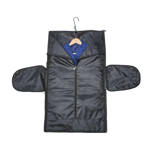 suit bag open